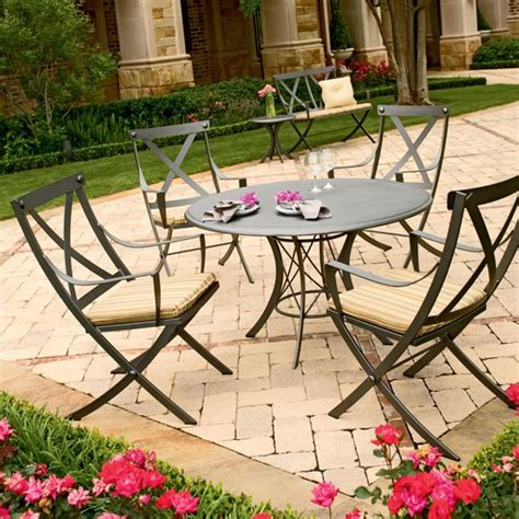 wrought iron outdoor dining table woodard cromwell outdoor dining table at homeinfatuation com