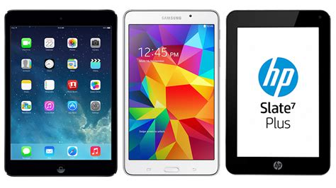 Samsung Tab V Plus apple mini 2 vs galaxy tab 4 vs hp 7 plus specs and features inferse