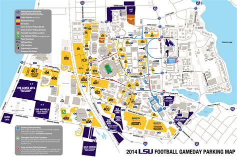 2015 LSU Football Parking Map   LSUsports.net   The