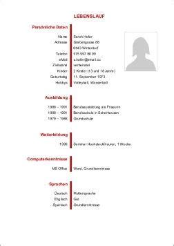 Lebenslauf Vorlagen Word Schweiz Lebenslaufvorlage24 Ch