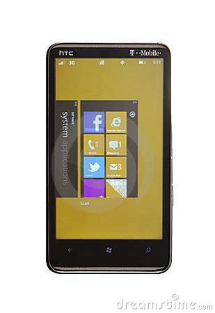 themes for htc hd7 windows phone 7 5 mango editorial photo image 22293936