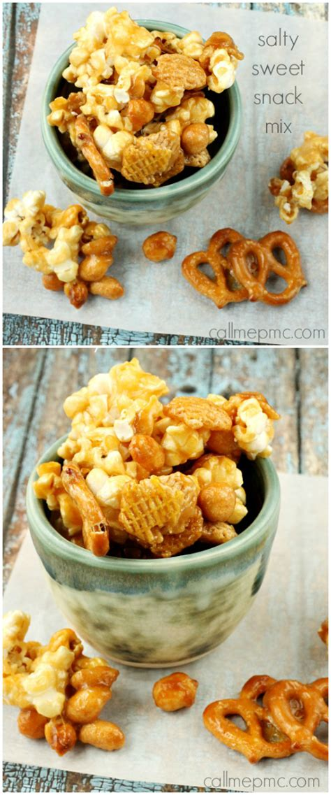 Crunchy And Tasty Salty Snacks by Salty Sweet Caramel Snack Mix 187 Call Me Pmc