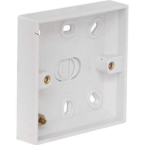 electrical box for wall light light switch pattress box 16mm plastic ref 1220