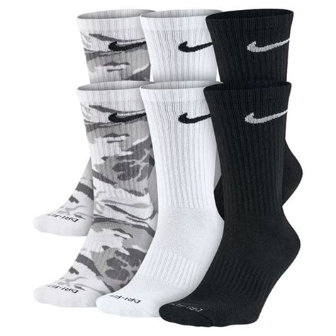 nike dri fit cushion crew socks large6 pair nike s dri fit cushion crew socks 6 pair academy