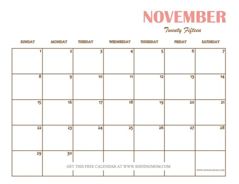 printable month planner november 2015 search results for cute november 2015 calendar page 2