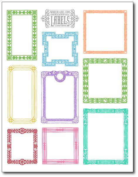 Vintage Ornamental Framed Labels By Cathe Holden Worldlabel Blog Label Template Software