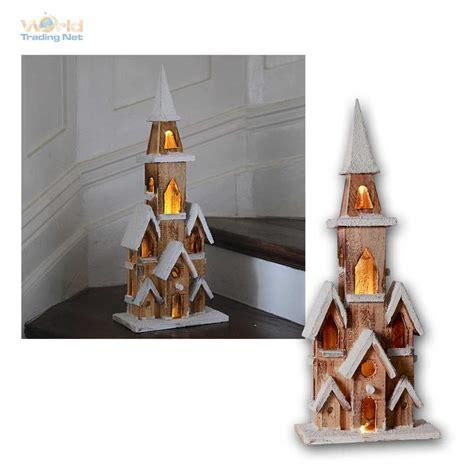 Weihnachtsdeko Fenster Mit Timer by Weihnachtshaus Holzhaus Led Beleuchtet Weihnachtsdeko