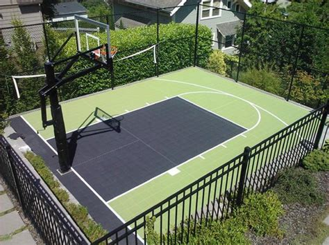 Backyard Basketball Court Ideas Backyard Basketball Court Ideas To Help Your Family Become Chs Bored