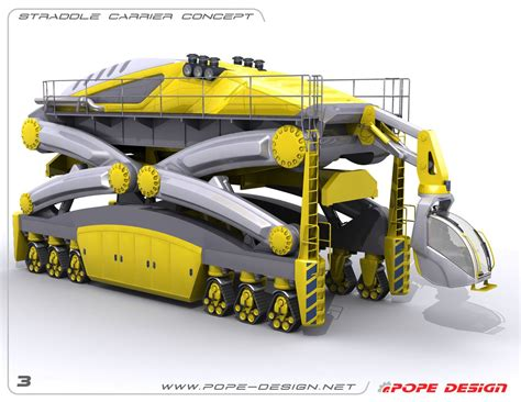 jon pope designs straddle carrier design engineering