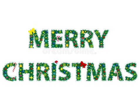 words merry christmas stock vector image  greeting