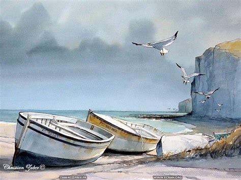 les barques les barques de christian zaber peinture dessin