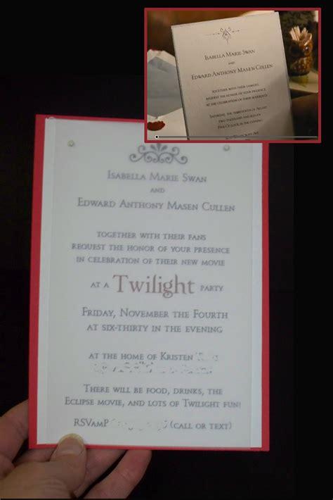 twilight wedding invitation make do celebrate the twilight saga breaking part 1