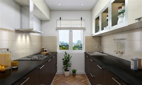 parallel kitchen ideas livspace