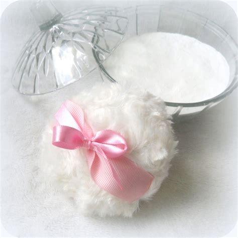 Trisia Powder White Pink White powder puff pink and white powderpuff soft bath pouf