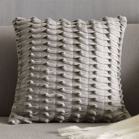 west elm pillows gray knotted felt pillow cover west elm for the home
