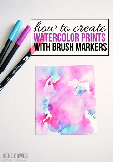 watercolor markers tutorial create watercolor prints with brush markers an easy