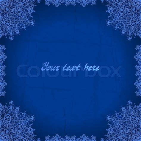 wedding background royal blue blue abstract vector background lace border frame for