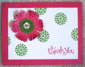 Handmade thank you card in red flower nationtrendz com