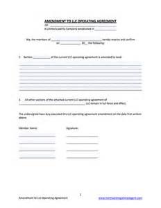 operating agreement amendment template llc operating agreement amendment template