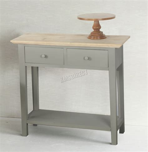 kitchen side table with drawers foxhunter console table 2 drawers wood hallway side