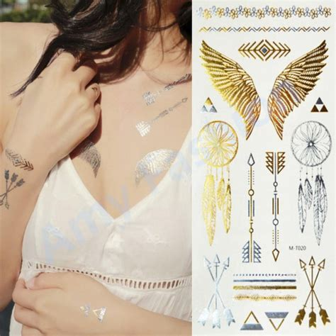 flash tattoo how to apply 1pcs body paint makeup gold tattoo flash tattoos temporary