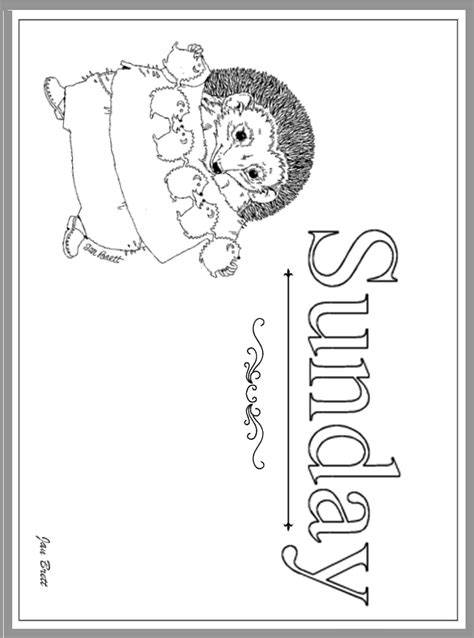 free days of the week coloring pages
