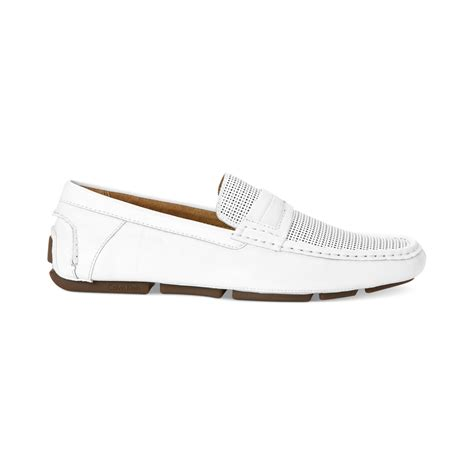 calvin klein shoes calvin klein michael perforated shoes in white for lyst