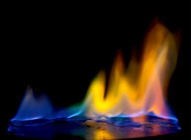 how to make colored flames how to make a rainbow of colored flames colors the