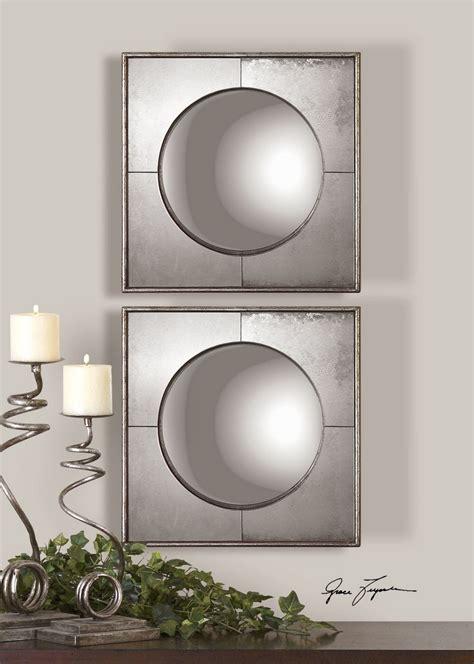 silver mirror set uttermost chagne silver mirror set of 2 uttermost