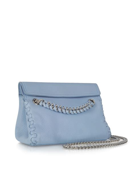 Roberto Cavalli Whipstitched Leather Purse by Lyst Roberto Cavalli Pompei Leather Crossbody Bag W