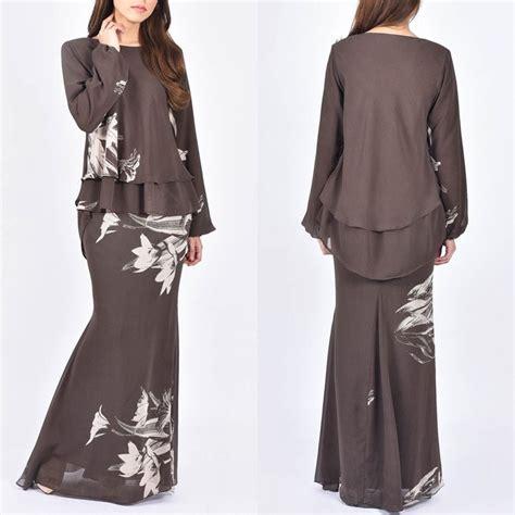 Tissues Dress Hitam fesyen kurung moden terkini autos post