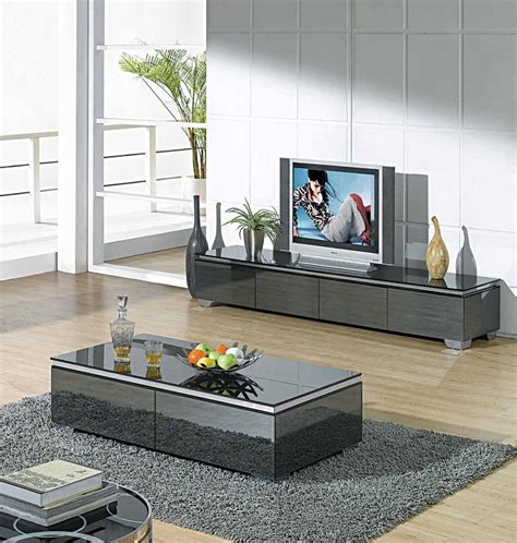 matching desk and tv stand modern glossy gray tv unit cr067 tv stands