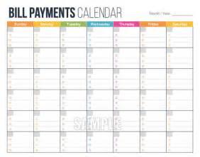 finance calendar template bill payments calendar editable personal finance