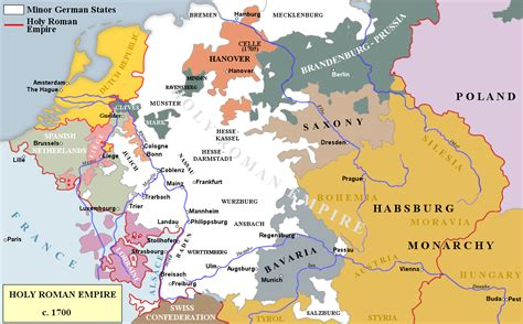 the holy roman empire 1846143187 nine years map