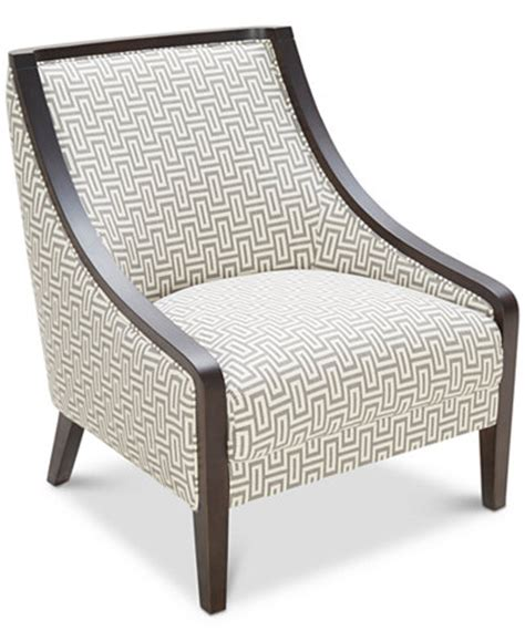 Printed Accent Chair Landor Printed Accent Chair Furniture Macy S