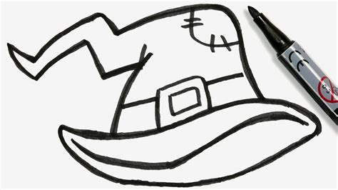 doodle witch hat how to draw a witch hat easy doodle