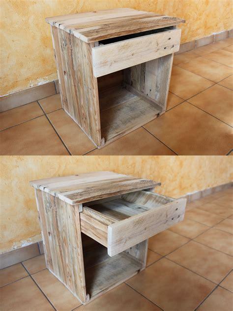 table de nuit en palette table de chevet en bois de palettes et colle 224 bois c est
