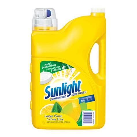 Sweepol Dish Wash 5l sunlight 174 lemon fresh dishwashing liquid 5l walmart canada
