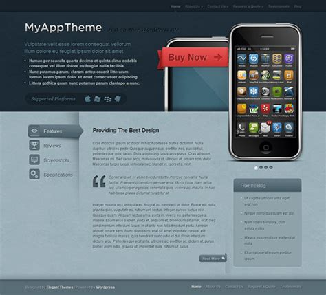 predefined templates for android apps 16 of the best wordpress themes for promoting iphone