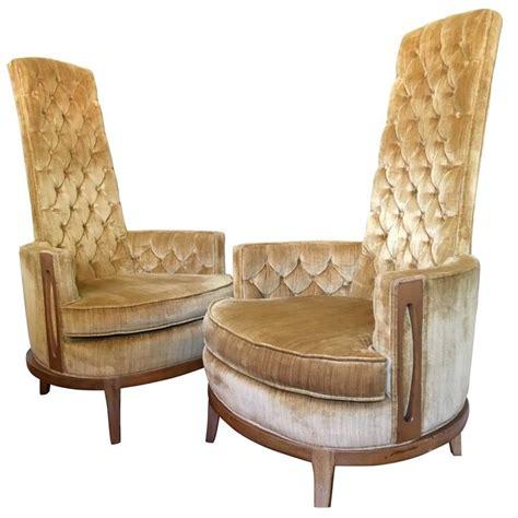 hollywood regency chair hollywood regency pair of high back chairs in vintage