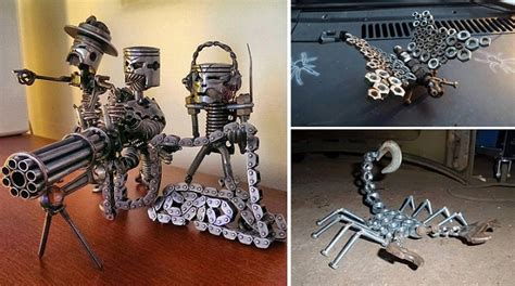 recycled car parts home design garden architecture
