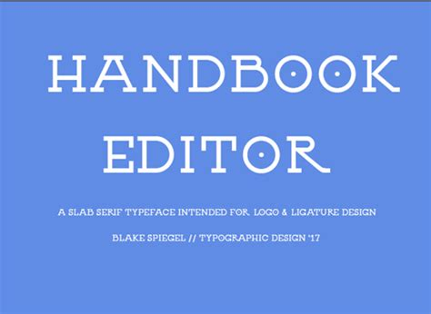 handbook editor typeface befontscom
