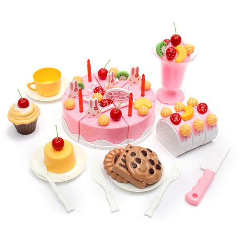 Birthday Cake Set by Set Of 75pcs Birthday Cake Set Pretend Play For