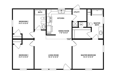 Bedroom Modular Home Plans Simple Floor Br With Double 2 Bedroom House Plans One Level Doublewide