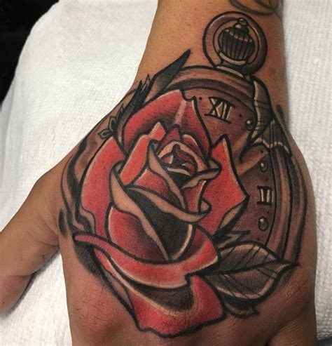 stopwatch tattoo with a stopwatch by jake tattoonow