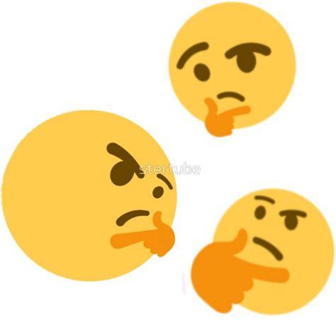 emoji thinking quot thinking emoji quot stickers by stertube redbubble