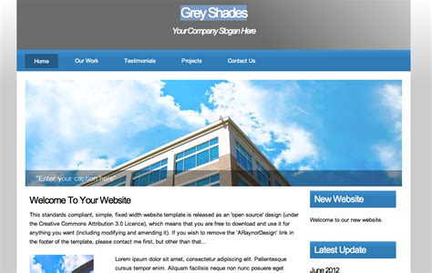dreamweaver templates torrent css website templates pack july 5 07 templates anorcus