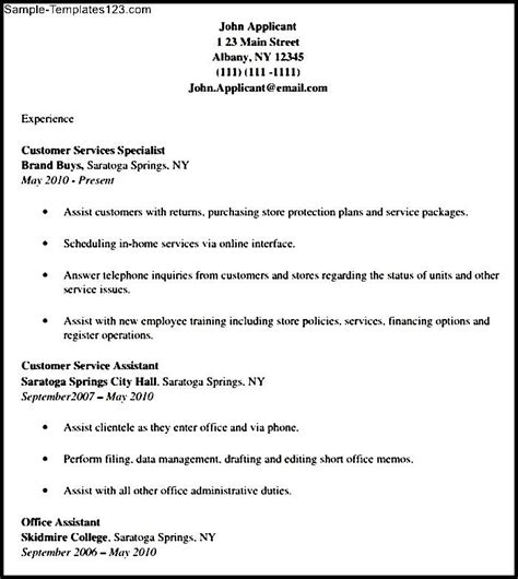 customer service cover letter template sle templates