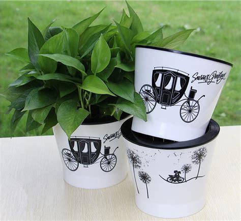 Gardener S Supply Flower Pot White Plant Pots Home Garden Office Decor Planter Plastic