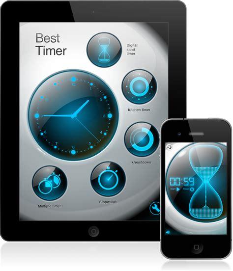 best timer app ui design for iphone app best timer